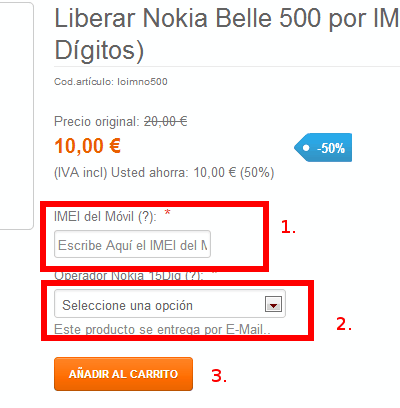 Pedido IMEI - Movilab
