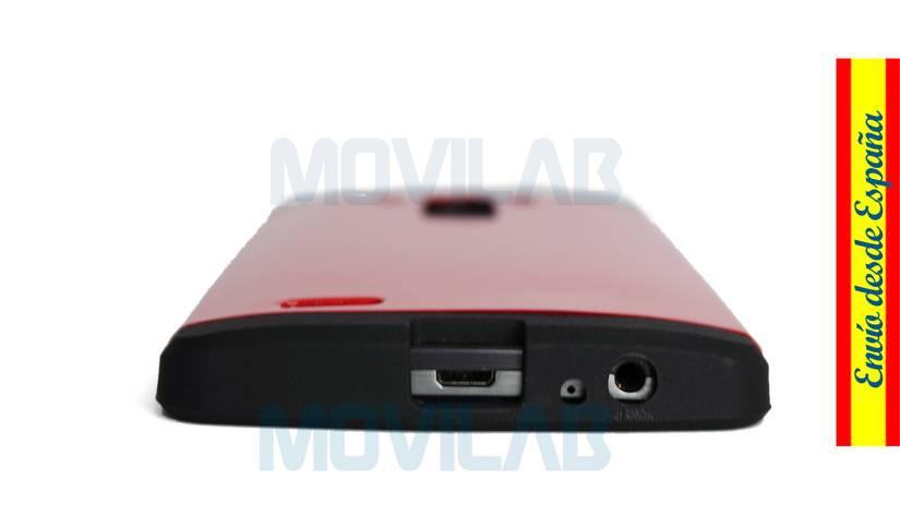 Funda LG G3 antigolpes conectores inferior