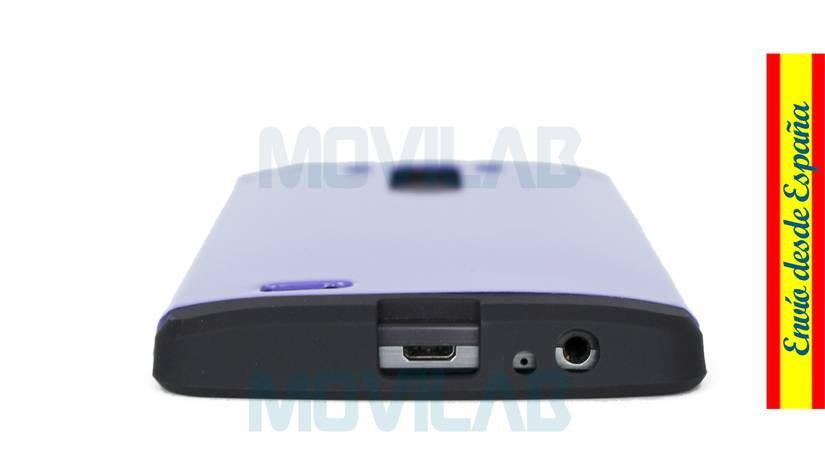 Funda carcasa LG G3 antigolpes conectores inferior