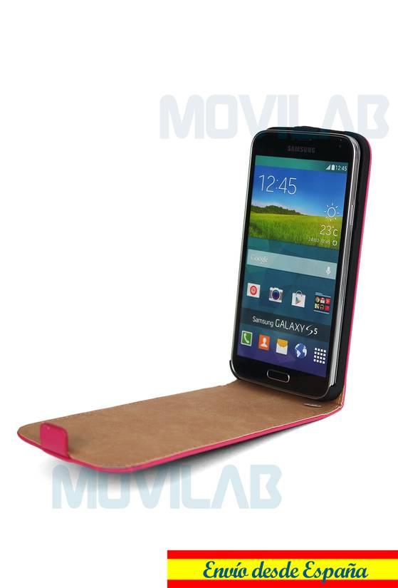 Funda tapa vertical Galaxy S5 abierta