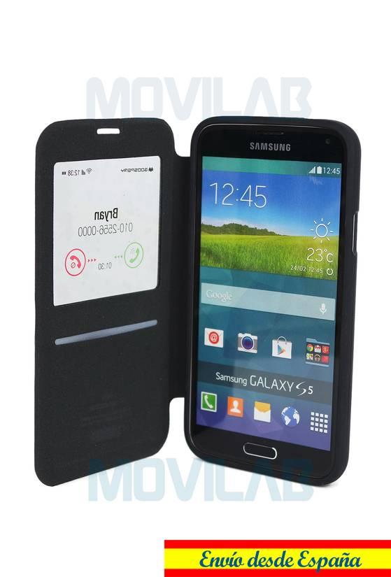 Funda flip Samsung Galaxy S5 Wow Abierta