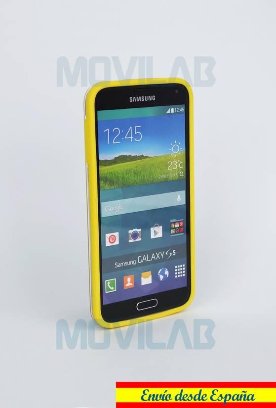 Carcasa bumper Galaxy S5 lateral amarillo