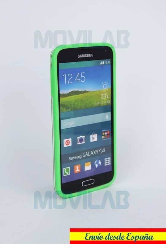 Carcasa bumper Galaxy S5 lateral verde