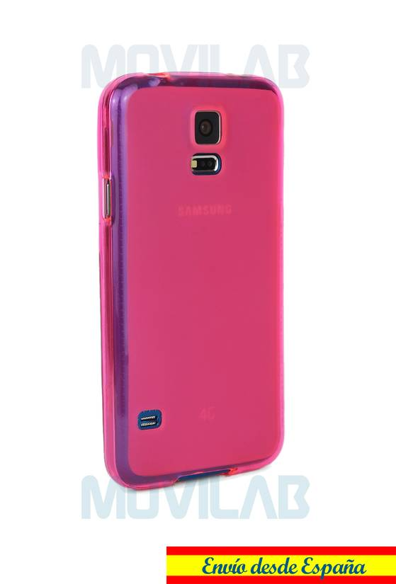 Funda gel Samsung G900 S5 lateral
