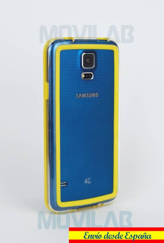 Carcasa bumper Galaxy S5 trasero amarillo