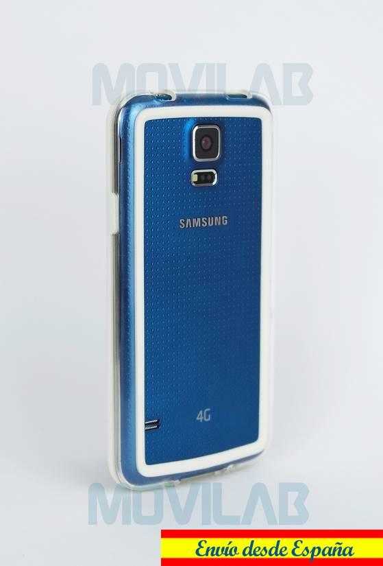Carcasa bumper Samsung Galaxy S5 trasero blanco