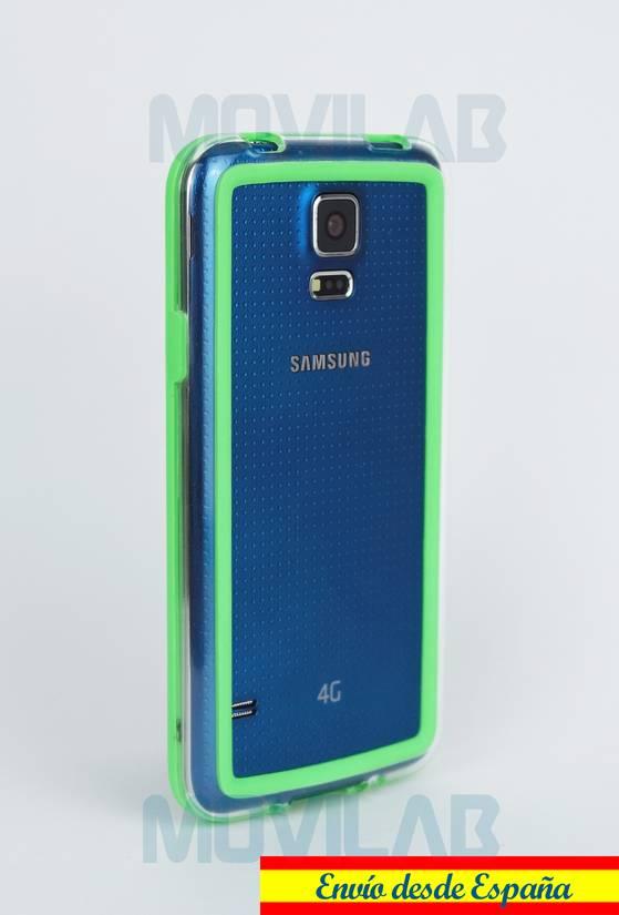 Carcasa bumper Galaxy S5 trasero verde