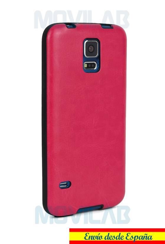 Funda carcasa gel Samsung S5 piel trasera
