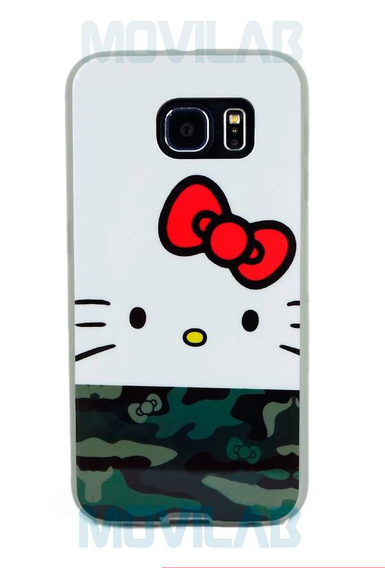 Funda semi Galaxy S6 Kitty trasera