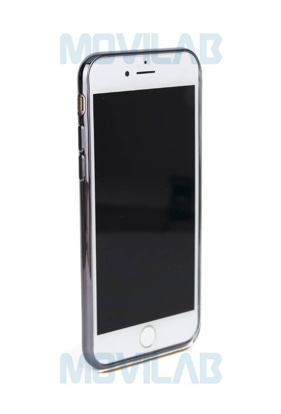 Funda gel Apple Iphone 7 borde negro