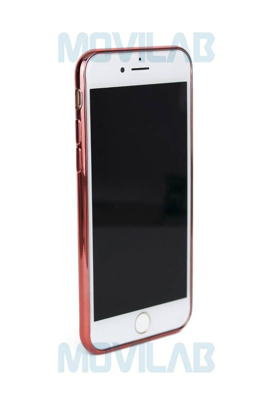 Funda gel Apple Iphone 7 borde rosado