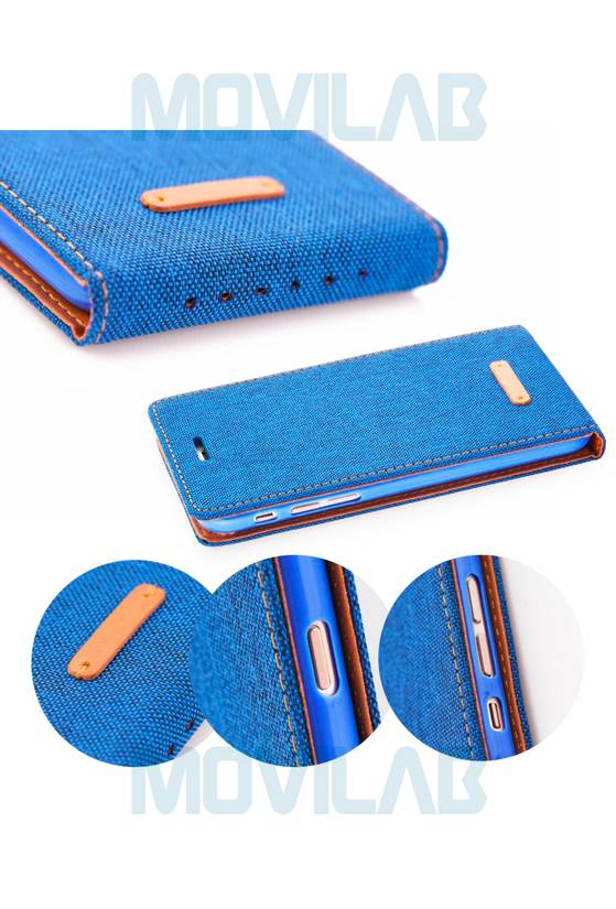 Funda tapa Apple Iphone 7 Jeans detalles
