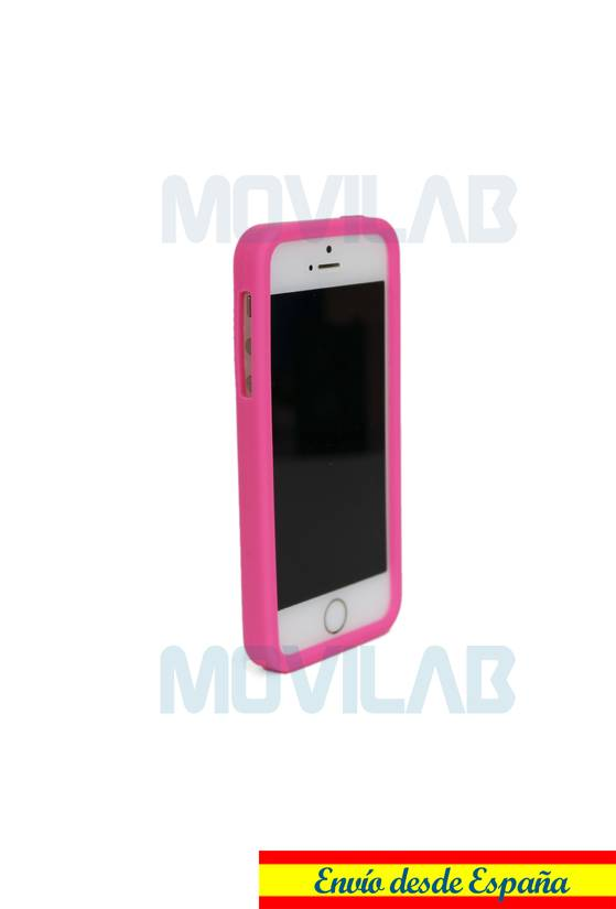 Funda carcasa Apple Iphone 5 silicona conejo frontal