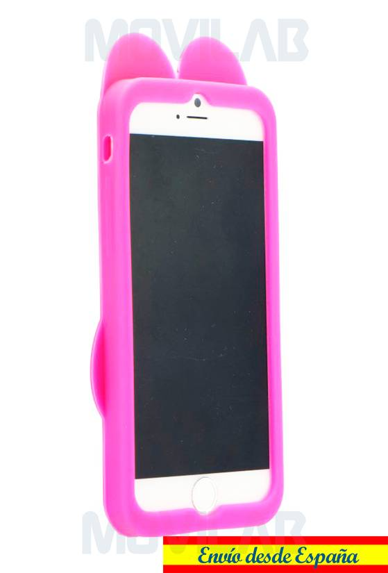 Funda carcasa Apple Iphone 6 silicona conejo frontal
