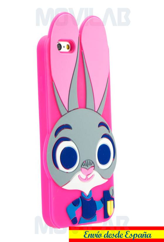 Funda silicona Apple Iphone 6 / 6S conejo