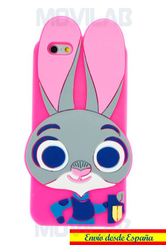 Funda carcasa Apple Iphone 6 silicona conejo trasera