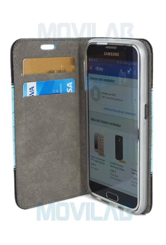 Funda flip Samsung S6 abierta