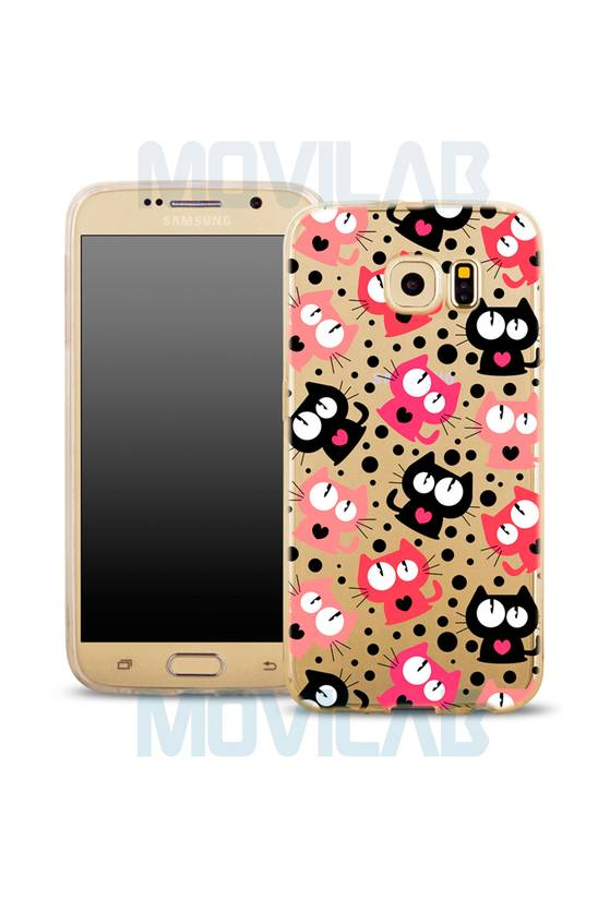 Funda semi Galaxy S6 Gatos