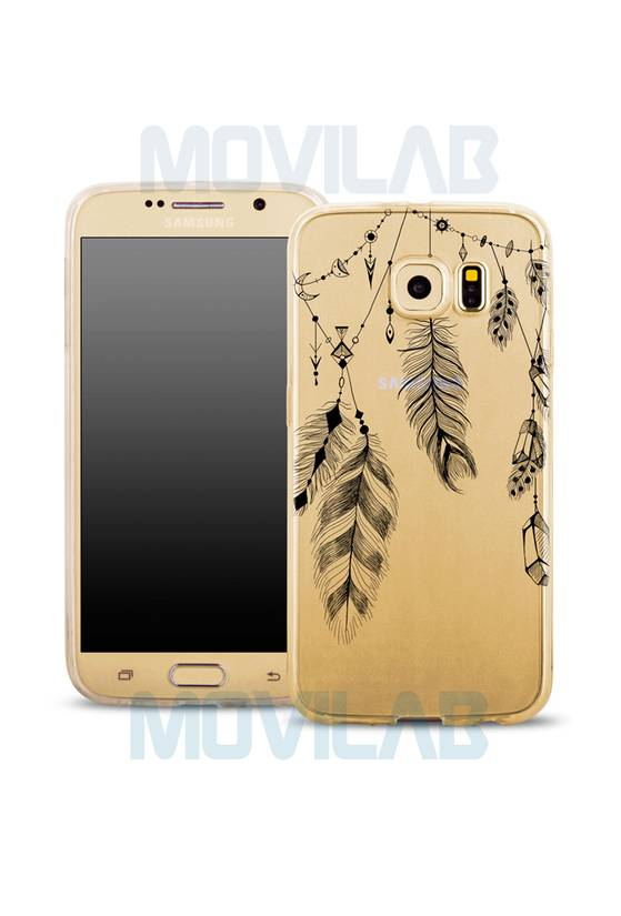 Funda semi Galaxy S6 Plumas