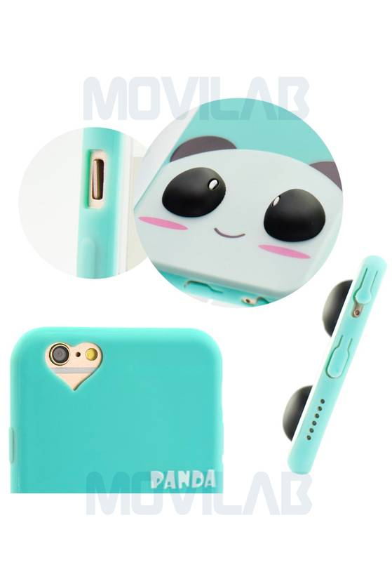 Funda carcasa Apple Iphone 6 panda detalles