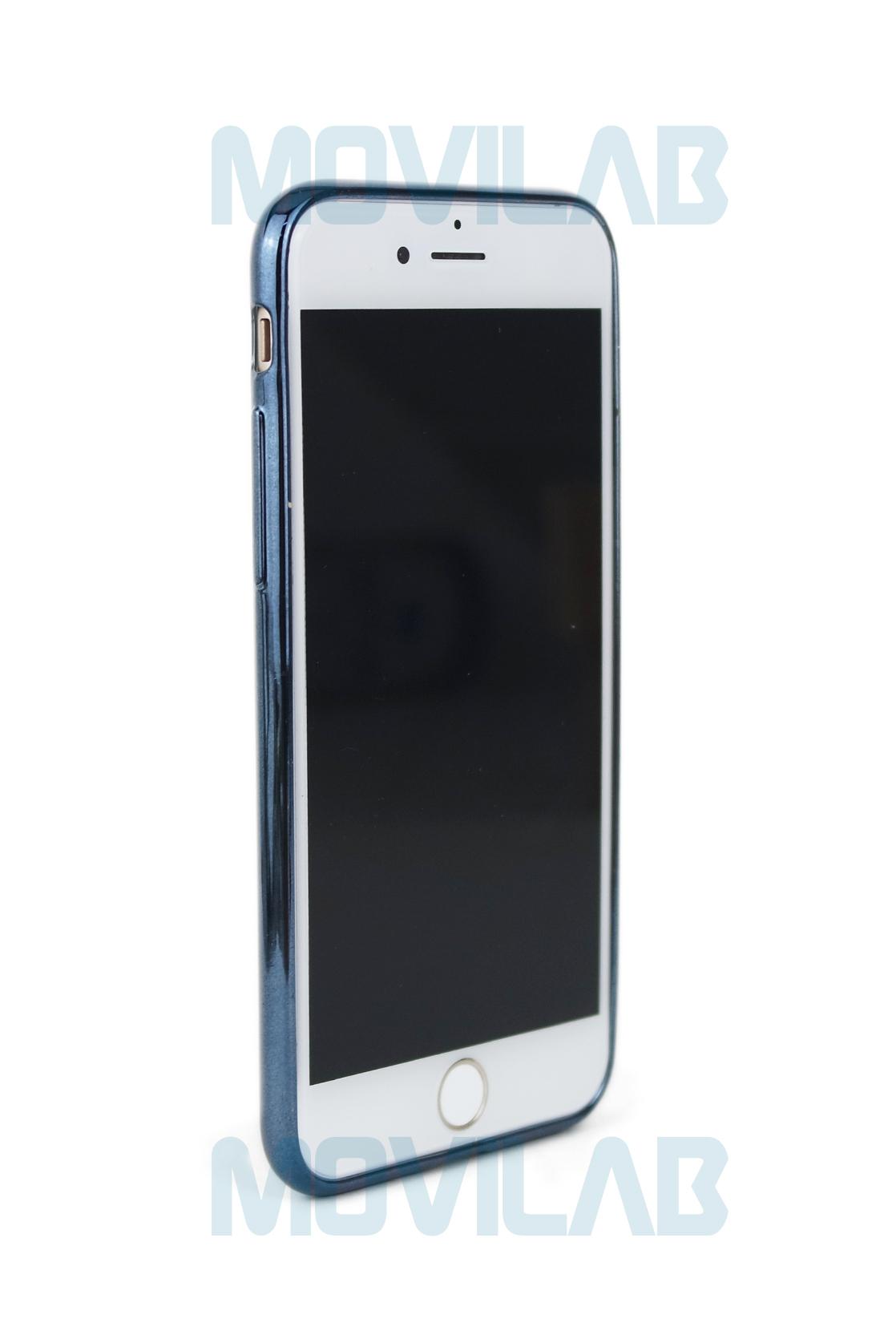 Funda gel Apple Iphone 7 borde grafito