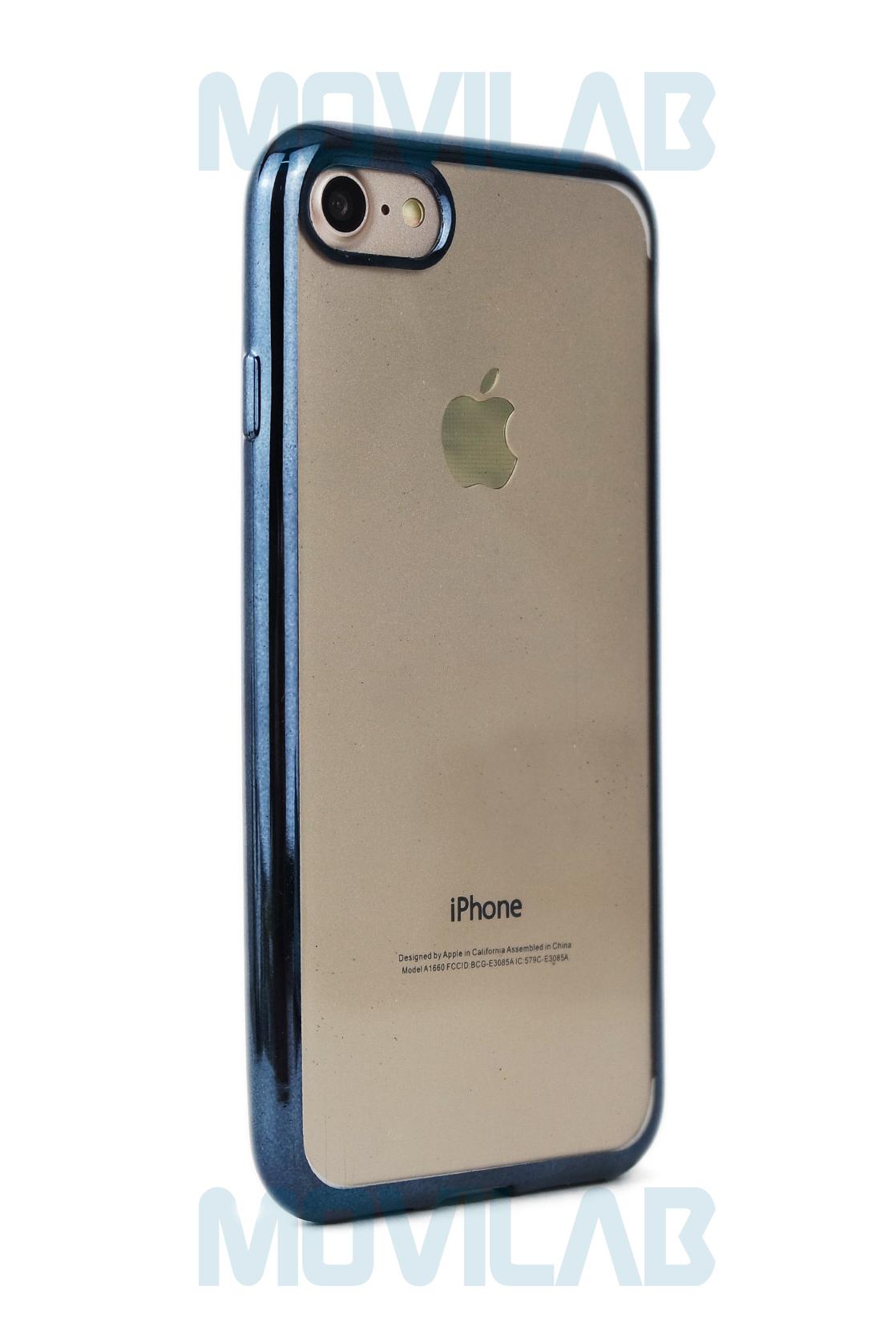 Funda gel Apple Iphone 7 grafito trasera