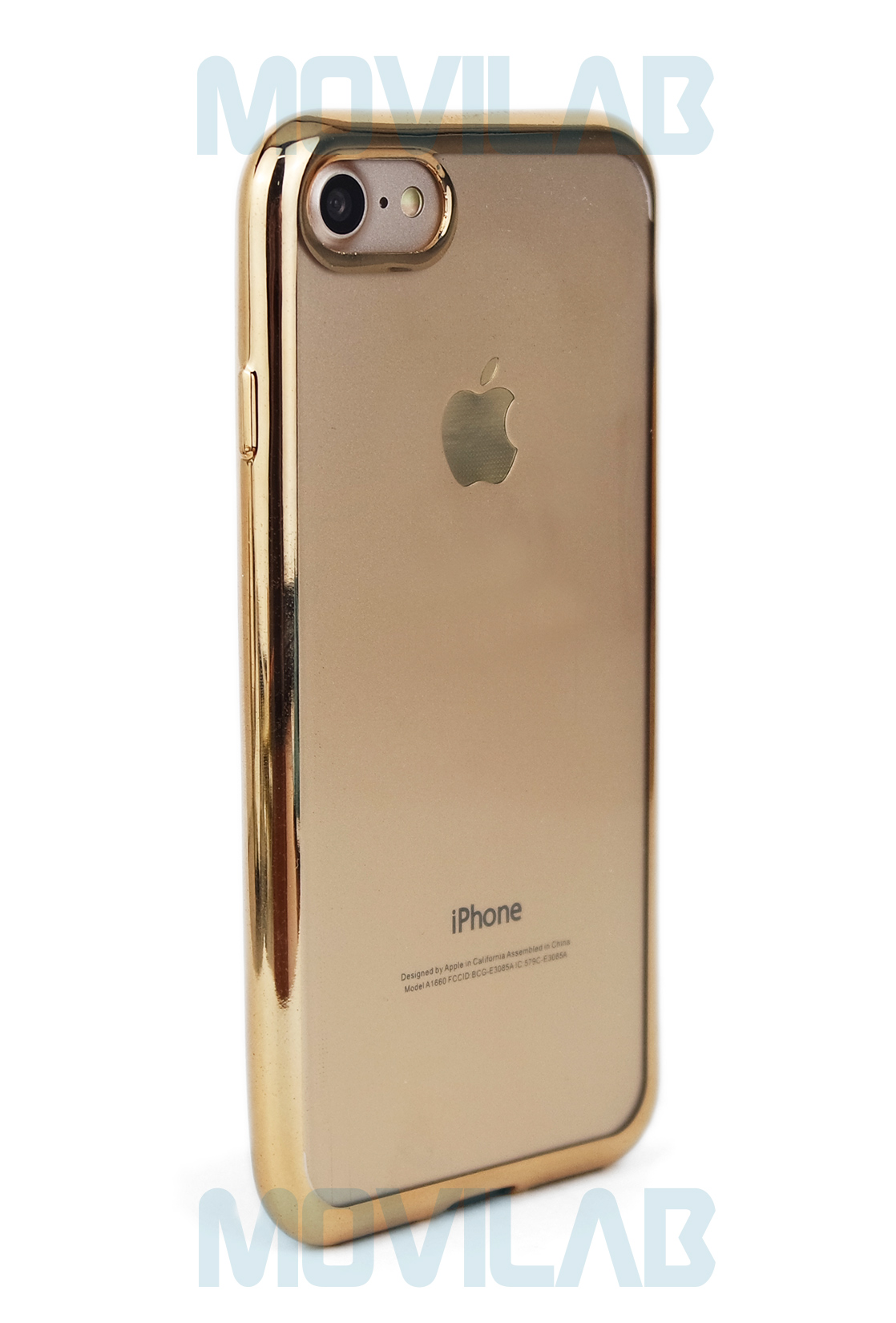 Funda gel Apple Iphone 6 marco metalizado trasera
