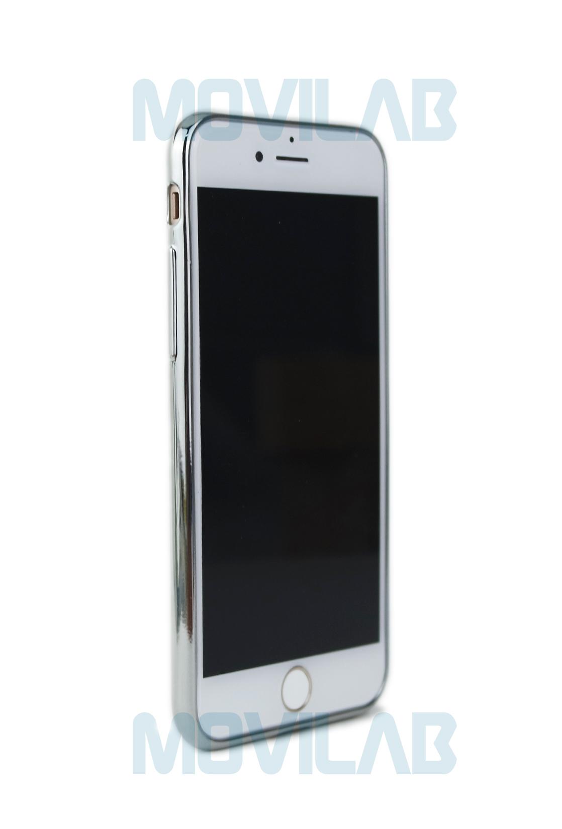 Funda gel Apple Iphone 7 borde plata