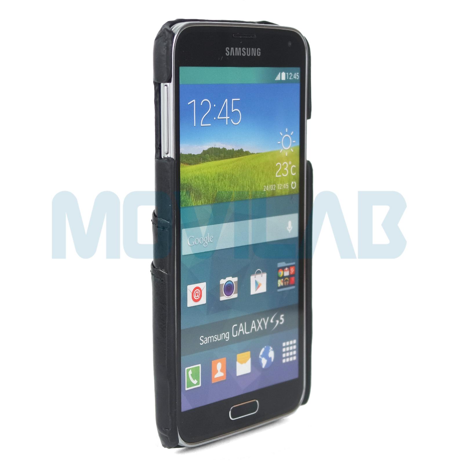 Funda piel Galaxy S5 frontal