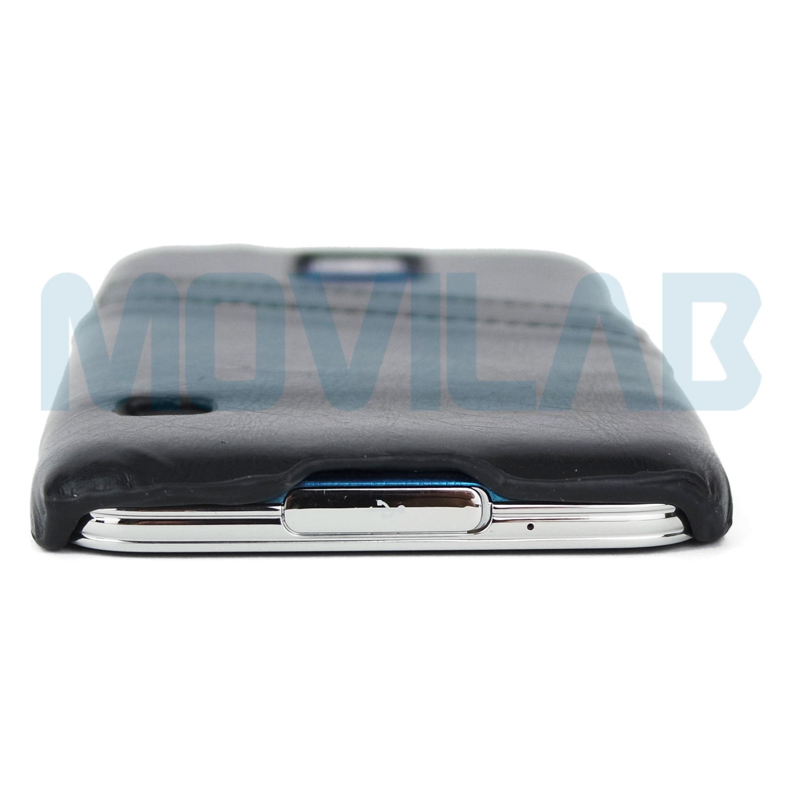 Funda piel Galaxy S5 conectores