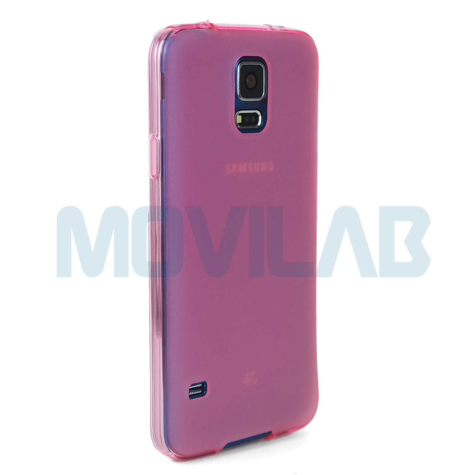 Funda Galaxy S5 rosa lateral