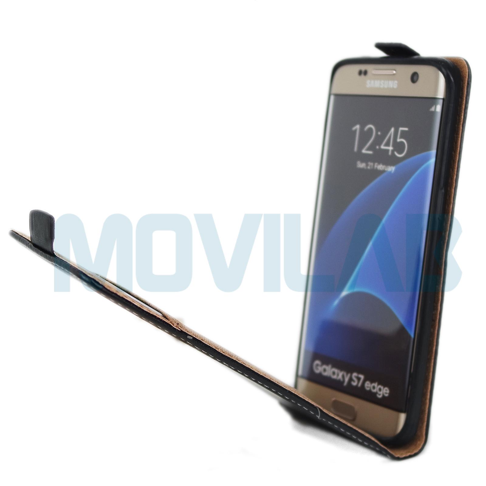Funda tapa vertical Samsung Galaxy S7 Edge abierta
