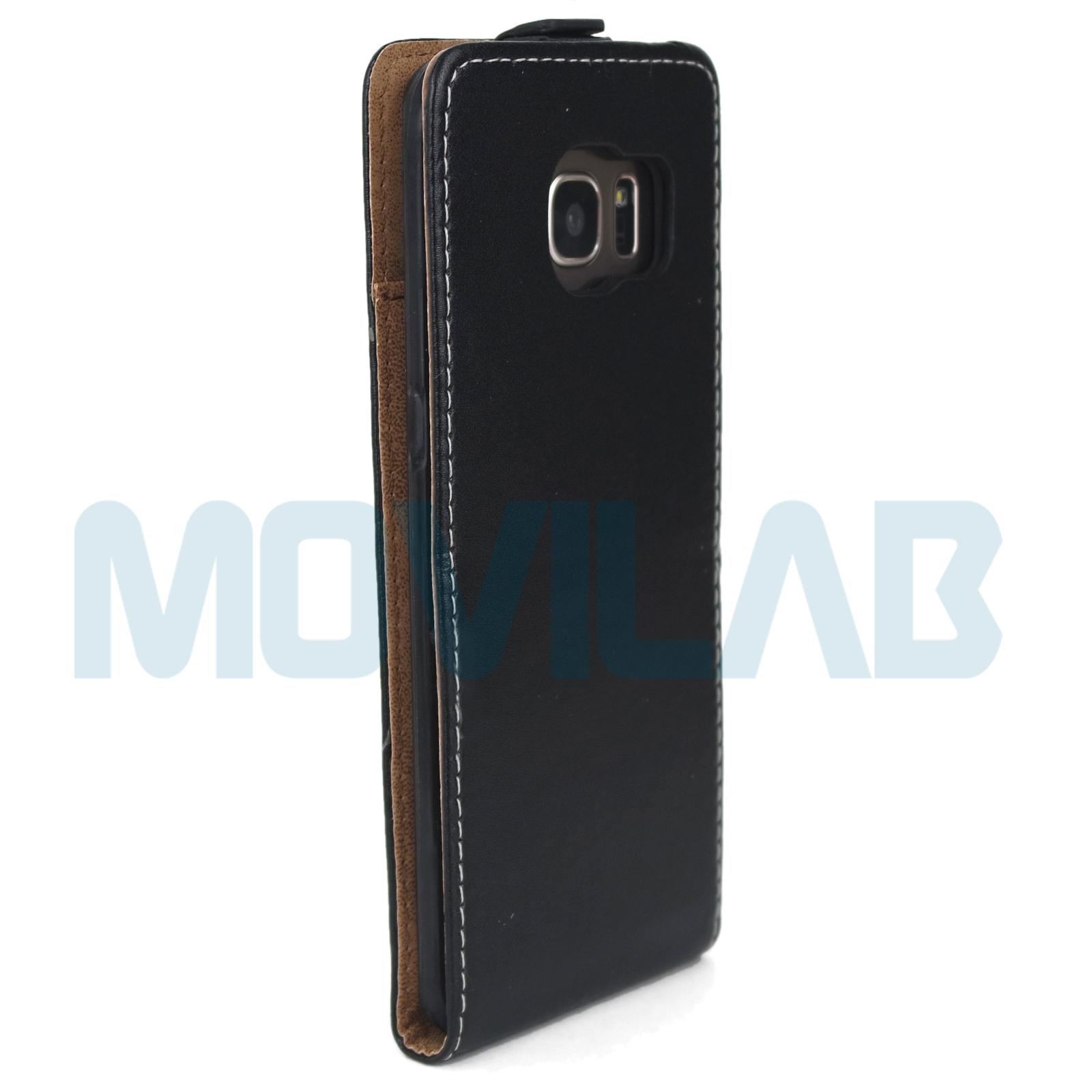 Funda tapa vertical Samsung Galaxy S7 Edge trasera