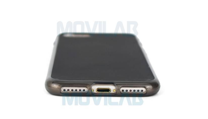 Funda gel Iphone 7 conectores