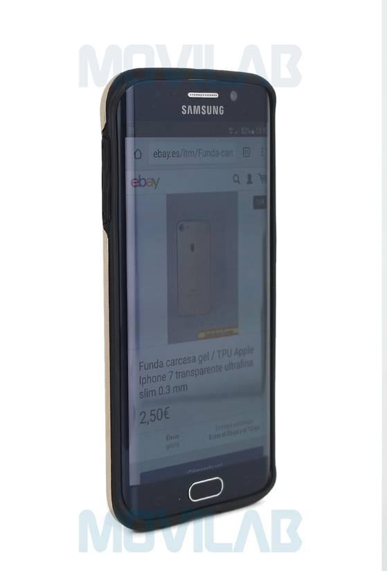 Funda aluminio Motomo Galaxy S6 edge frontal