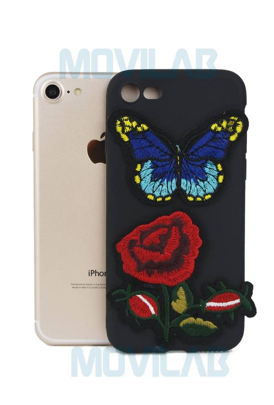 Funda silicona Iphone 7 parche tatto