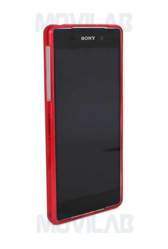 Funda gel Xperia Z2  frontal rojo