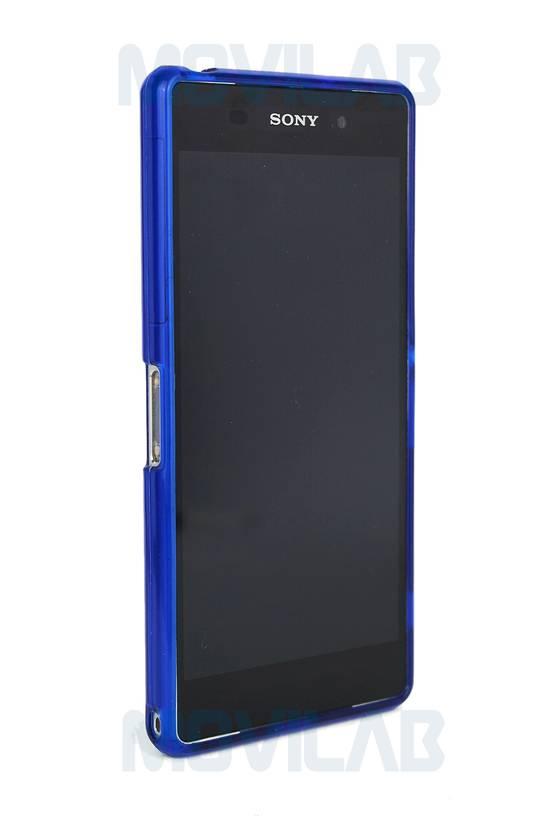 Funda gel Xperia Z2 frontal azul
