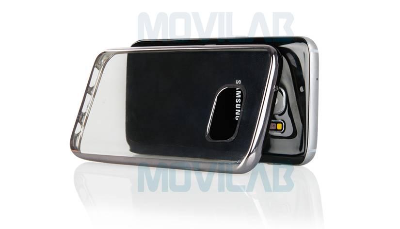 Funda semi Samsung Galaxy S7 Edge trasera