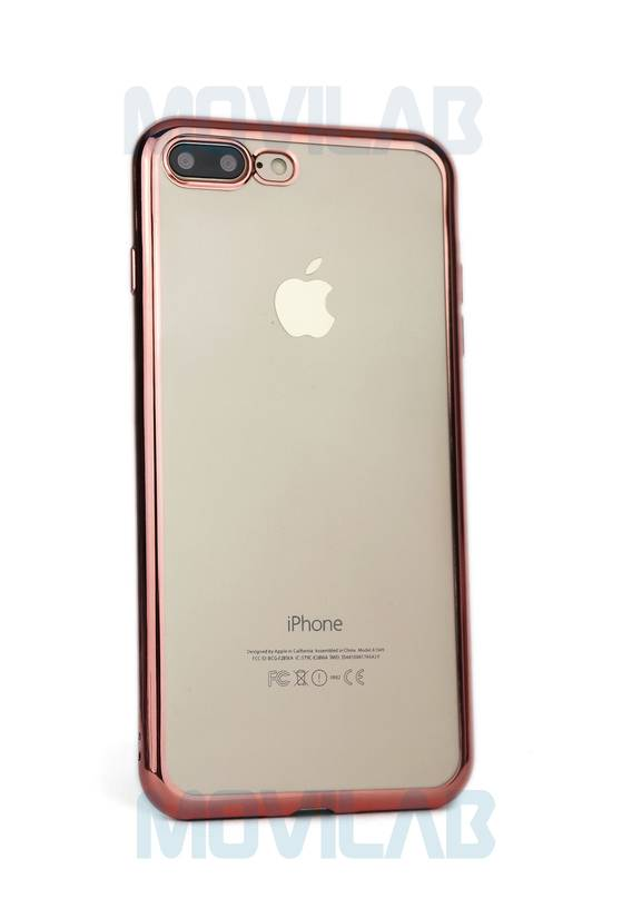 Funda Iphone 7 Plus borde croamado trasera