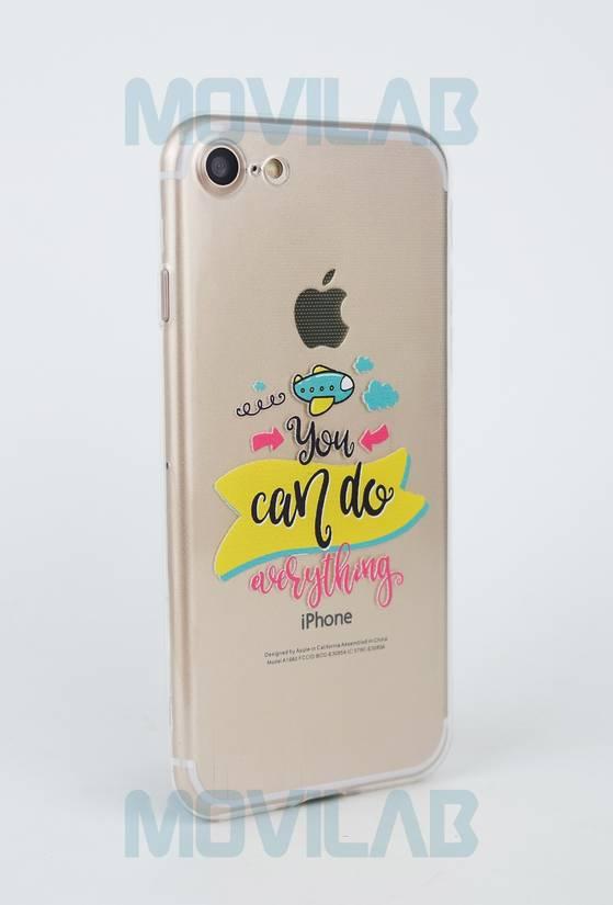 Funda gel slim Iphone 7 trasera