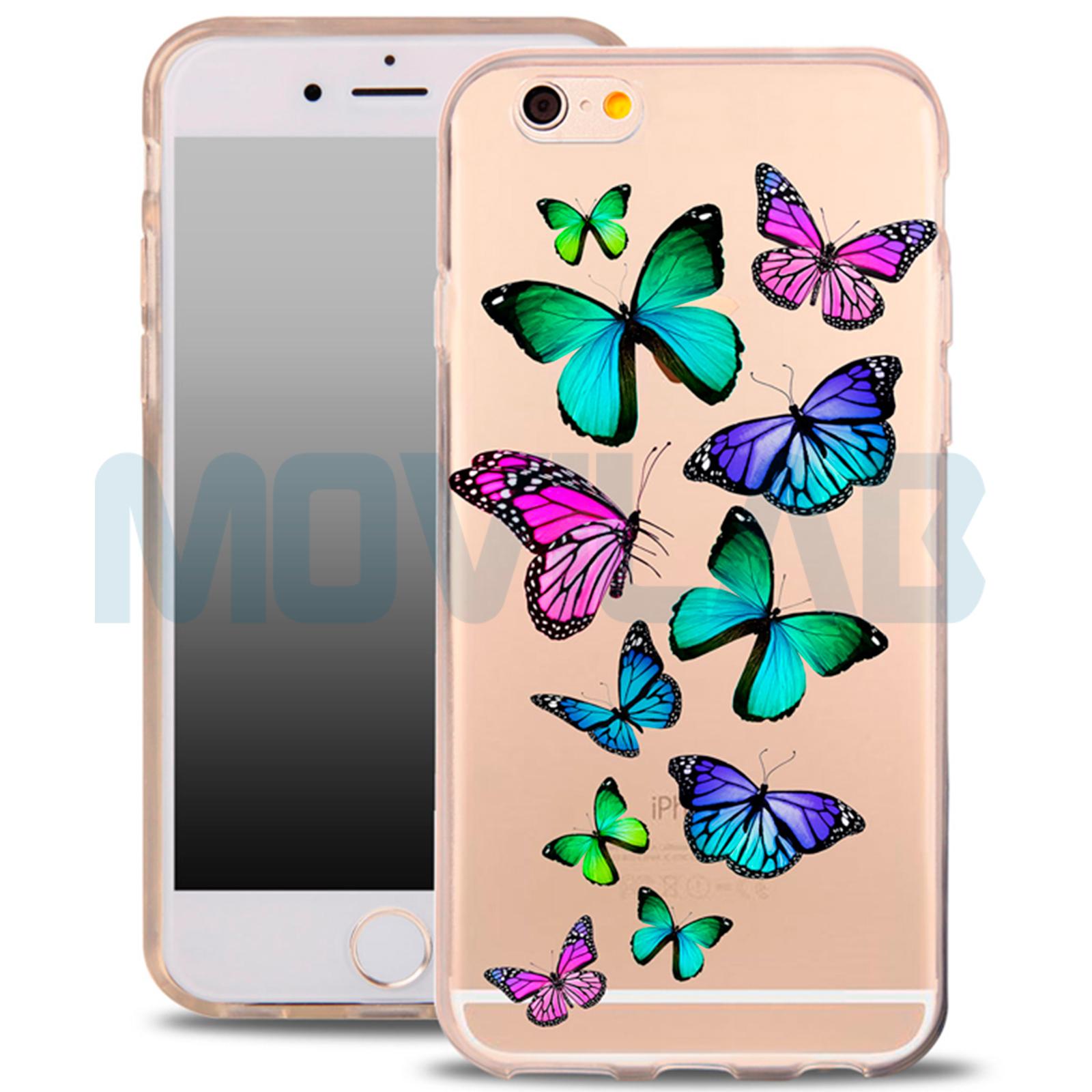 Funda gel Iphone 6 / 6S mariposas