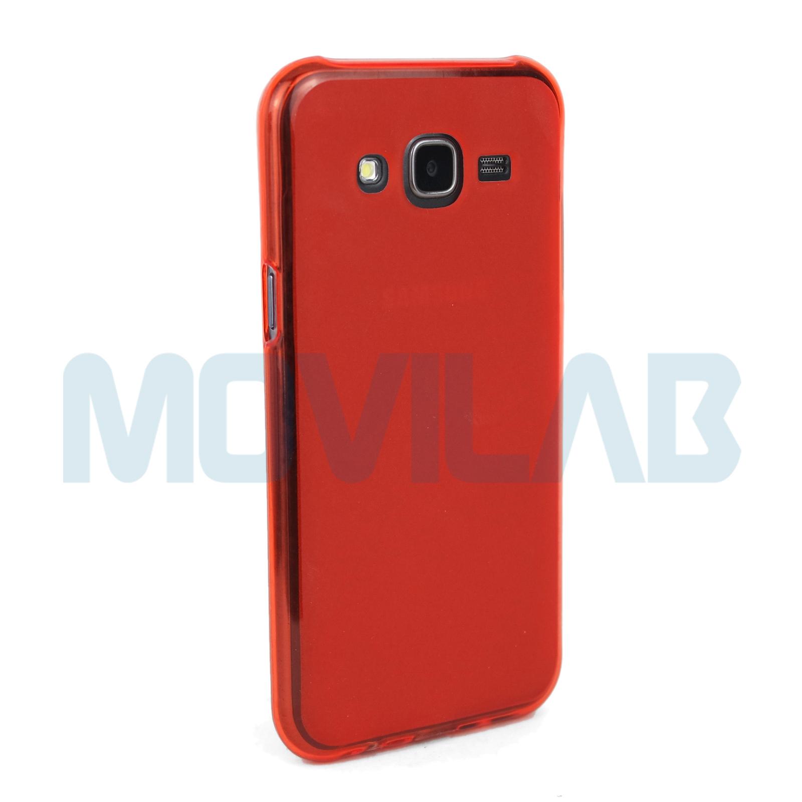 Funda Samsung J500  roja  trasera